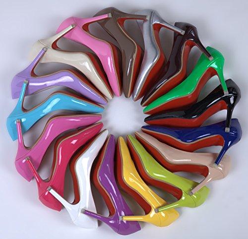 1 SEXYHER siebzehn 3 Farben SHOMKSRB Damenmode Rainbow Schuhe SkyBlue Heel Zoll in Series Skyblue High Hochzeit pxzIxn