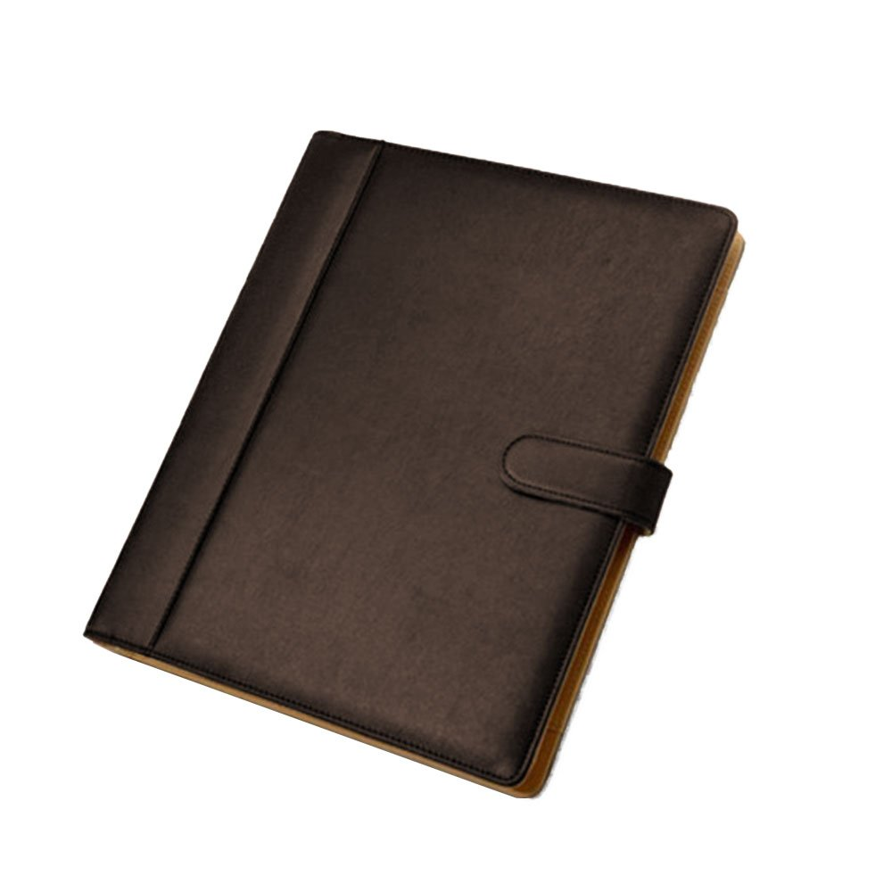 Goodjobb Multi-Function Manager Folder with Calculator Business Document Holder Travel Folder,Brown