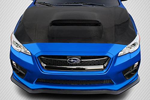 Carbon Creations ED-NVG-126 OEM Hood - 1 Piece Body Kit - Compatible For Subaru WRX 2015-2016