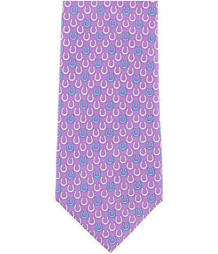 Tommy Hilfiger Mens Horse Shoe Necktie Purple One Size from Tommy Hilfiger