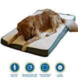 PetBed4Less Premium Orthopedic Memory Foam Pet Bed Dog Bed for Small Medium to Super Extra Large dog with Removable external cover and waterproof liner + Free bonus replacement case