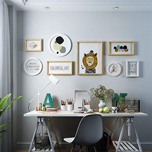 Blanc Couleur Du Bois Hjky Photo Frame Wall Set Décoration