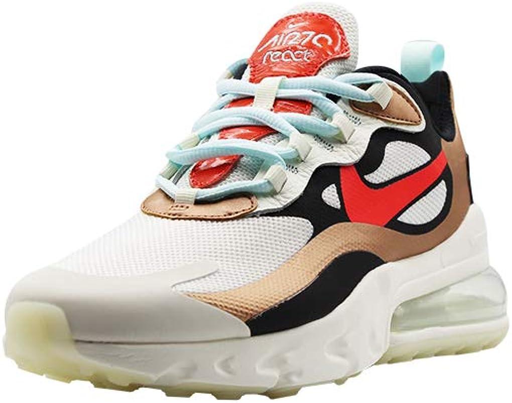 Nike Chaussures pour Femmes Baskets AIR Max 270 React en Tissu Multicolore CT3428-100 Multicolore