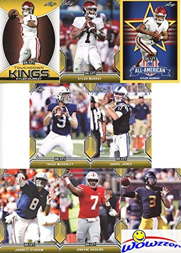 2019 Leaf Draft Football Awesome Complete 103 Card GOLD PARALLEL ROOKIE MINT Set with (3) KYLER MURRAY RCs plus Dwayne Hoskins, Daniel Jones, Drew Lock, Trace McSorley, Jarrett Stidham & More! WOWZZER