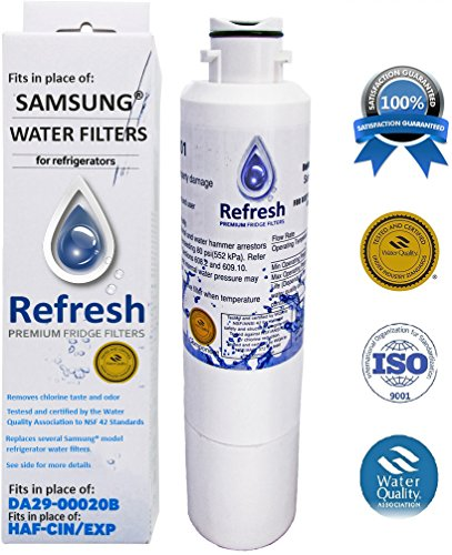 Price comparison product image Refresh DA29-00020B Replacement for Samsung DA29-00020B, HAF-CIN/EXP, 46-9101 Refrigerator Water Filter