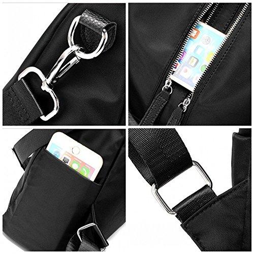sac bandoulière à à cuir classique en unisexe à sac PU nylon sac M013 occasionnel blue main dos noir Mode et wB7XZqCqx