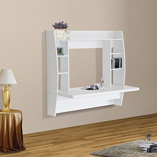 homcom-wall-mounted-floating-table-computer-desk-with-storage-home-office-bedroom-furniture-white