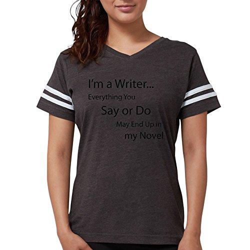 CafePress - Writer T-Shirt - Womens Football Shirt Smoke Grey