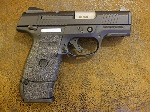 Black Textured Rubber (Peel and Stick) Grip Enhancements for The Ruger SR9C and SR40C Without a Trigger Guard Laser (Best Laser For Ruger Sr9c)