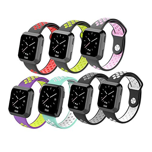 Budesi Replacement Bands Compatible for Fitbit Versa Bands,Bracelet Replacement Band Wristband Accessories Strap Compatible Fitbit Versa Women Men Smartwatch