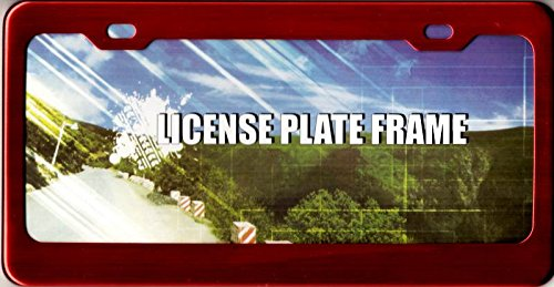 Decor Time Red Anodized Aluminum License Plate Frame