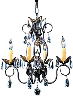 product image for Framburg 9904 MB 4-Light Liebestraum Mini Chandelier, Mahogany Bronze