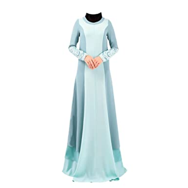 Meijunter Muslim Women Maxi Dress Kaftan Islamic Abaya Malaysia Long Sleeve Robe
