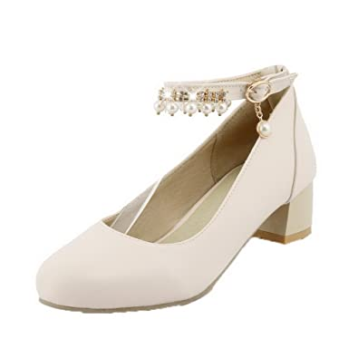 9e24983f20b344 AalarDom Damen Ziehen auf Niedriger Absatz Blend-Materialien Rein Pumps  Schuhe. ZHIRONG Frauen Flache Clip Toe Spitz Typ T Sandalen ...