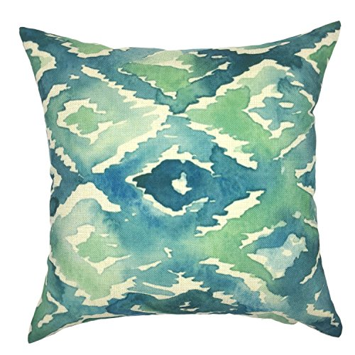 YOUR SMILE Green Cotton Linen Pillow Case Trendy Tropical Tree Decor Throw Cushion Cover for Sofa Home Decorative Square Pillow Cover with Zippers Standard Size 18 x 18 Inch (style 4) (Piece 4 Nba Square)