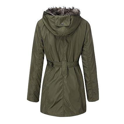 Mujeres Impermeable cálido cómodo cómodo con Capucha suéter Capa Invierno Cremallera Outwear Abrigo: Amazon.es: Ropa y accesorios