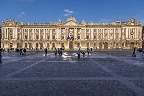 France, Photography, Toulouse, Capitole, City Hall, Art print, Wall Art, Decor, Gift, Photo, municipal government, thearter, neoclassical architecture, ()