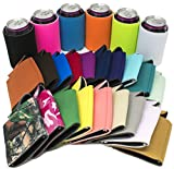 TahoeBay 25 Can Sleeves - Multi Color Beer Coolies for Cans and Bottles - Bulk Blank Drink Coolers - DIY Custom Wedding Favor, Funny Party Gift (Multicolor, 25)