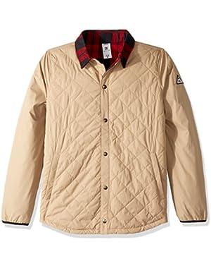 Men's Network Water Resistant Reversible Flannel Shirt Jacket