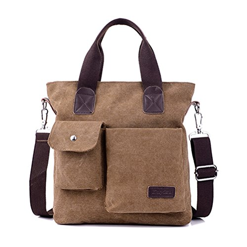 Shoulder Laptop Brown Canvas Messenger Bag For Honeymall Retro Travel brown Camping Hiking Men's wCUXqnnSxE