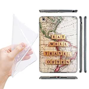 Head Case Designs Eat Well Travel Often Travel The World Soft Gel Back Case Cover for Apple iPad mini with Retina Display iPad mini 3