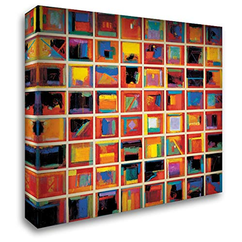 64 Abstract Paintings, Oversize 24x20 Gallery Wrapped Stretched Canvas Art by Collins, Gary Max ()