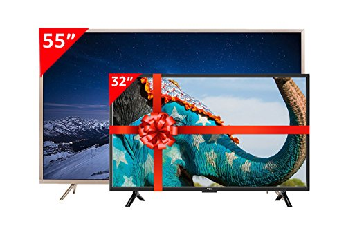 TCL 139.7 cm (55 Inches) 4K UHD LED Smart TV TCL55P2US32D2900 (Golden) and TCL 80 cm (32 Inches) HD Ready LED TV L32D2900 (Black)