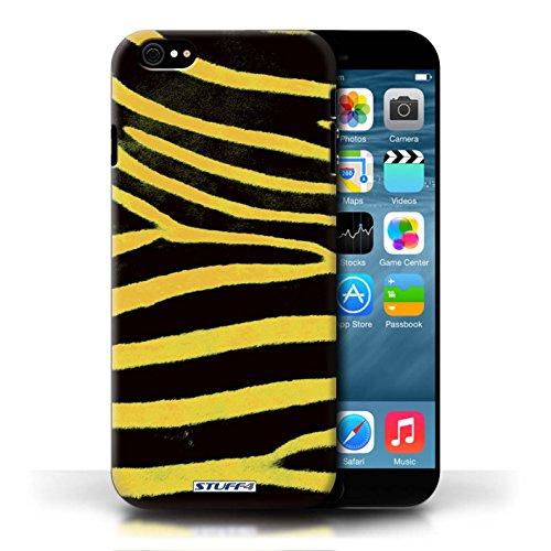 Case für Apple iPhone 6/6S / Gelb Entwurf / Zebra Tier Haut/Print Collection