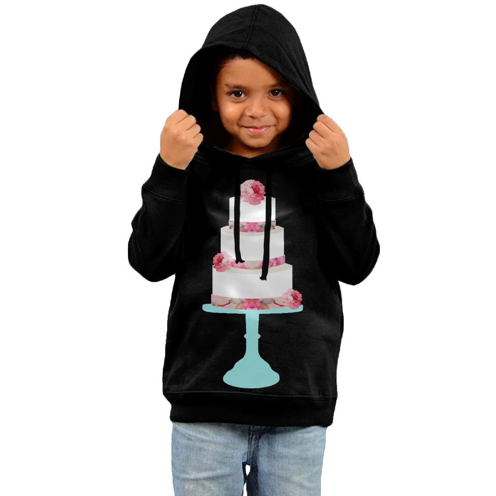 Xs Wu Toddler Cute Pink Floral Wedding Cake Teal Stand On Pink Particular Hoodies4 Toddler Black