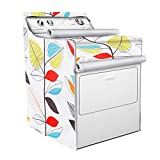 Washer/Dryer Cover,Fit for outdoor top-load and front load machine,Zipper design for easy use,Waterproof Dust-proof Moderately Sunscreen(W29D28H40in,Colorful Leaves)