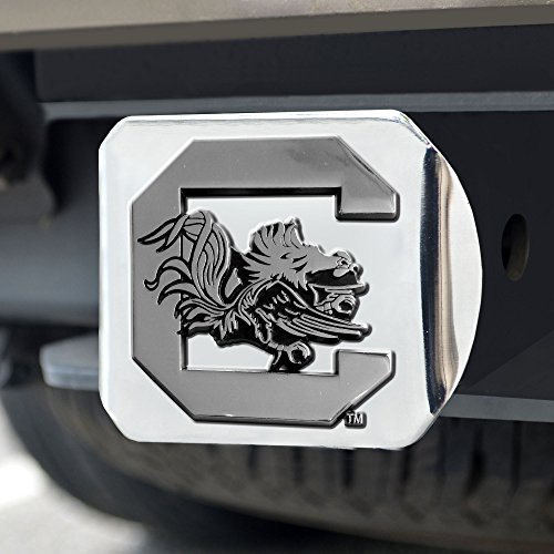 FANMATS NCAA University of South Carolina Gamecocks Chrome Hitch Cover