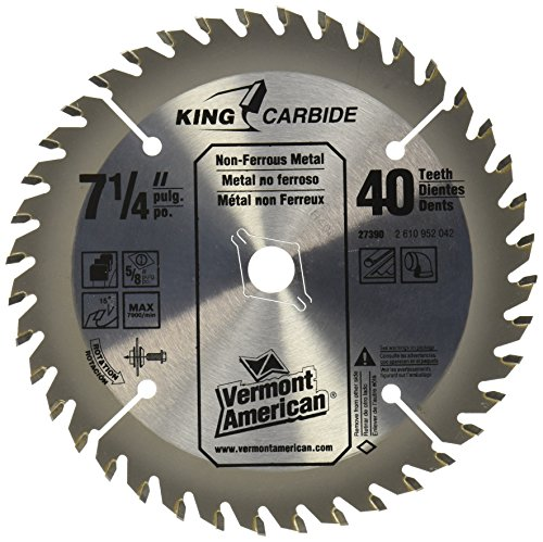 Vermont American 27390 7-1/4-Inch 40T Nonferrous Metal Carbide Circular Saw - Vermont American Metal Blade