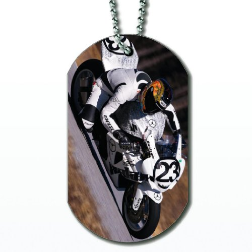- Motorcycle Racing - Dog Tag Necklace