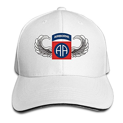 GENZHESI US Army 82nd Airborne Jump Wings Adjustable Baseball Hat Dad Hats Trucker Hat Sandwich Visor Cap