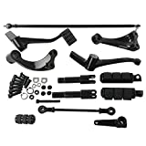 XMT-MOTO Forward Controls Complete Kit Pegs& Levers& Linkages For Harley Sportster 2004-2013