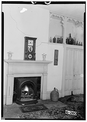 8 x 12 Photo 8. Historic American Buildings Survey Alex Bush, Photographer, January 5, 1935 Fireplace in Dining Room - Waldwic House & Outbuildings, State Route 69, Gallion, Hale C After 1933 34a by Vintography