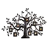 Asense Family Tree with 8-opening Collage Picture Frame 2x 2.5 inch Metal Frame Wall Hanging, Black Review
