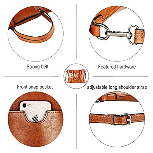 Shoulder Body Bag Cross Handbags Bag Large Vintage Capacity Bags Women Brown Casual Bag HwFqt1