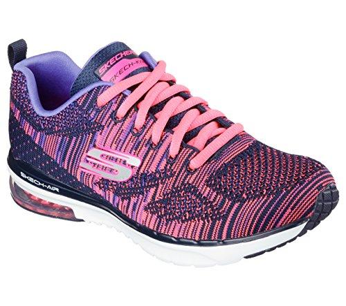 Skechers 12113 - Zapatillas de gimnasia de Material Sintético para mujer azul navy - hot pink 38