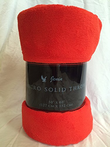 LuxuryDiscounts Warm & Cozy Soft Plush Solid Fleece Throw Blanket (50
