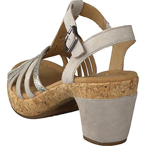 Gabor comfort para mujer sandalias con plataforma material de combinación ice combi., color marrón, talla 5,5 UK