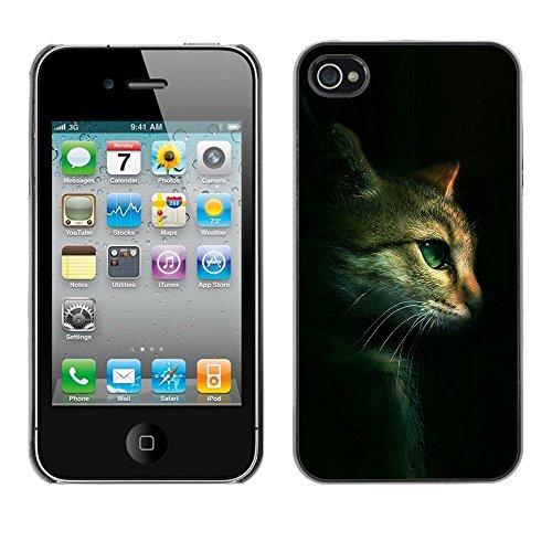 Stuss Case / Coque Étui Housse de protection - Cat Feline Portrait Profile Green Eyes - Apple Iphone 4 / 4S