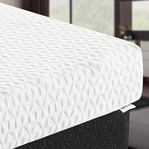 TEKAMON 3 Inch Cool Gel Memory Foam Mattress Topper,with Removable Hypoallergenic & Washable Cooling Bamboo Cover,CertiPUR-US Certified