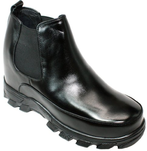 Slip 9 on Increasing Shoes K332011 Black Height 4 Elevator Boots Taller CALDEN Inches PaE4wvqaxY