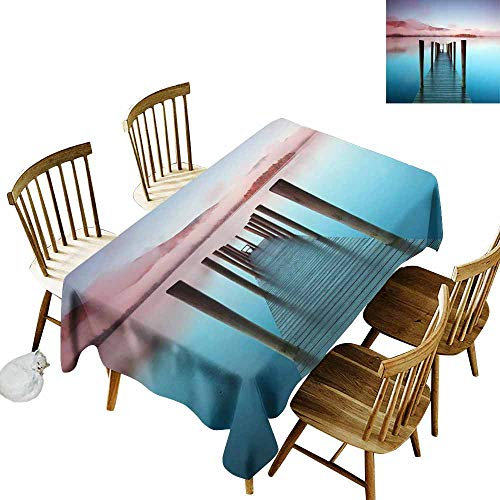 SLLART Party Table Cover Ashness Pier. The pier is a Landing Stage on The Banks of Derwentwater, Cumbria in The English Lake District National Park. W 60