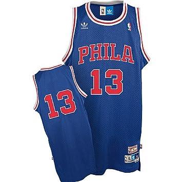 3da1e33a6 Wilt Chamberlain Philadelphia 76ers Adidas Throwback Blue Swingman Jersey