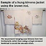 Wooden Display Rod for Kimono or Haori Jackets