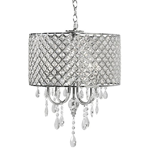 Best Choice Products Crystal Chandelier Lighting Pendant Glass Ceiling Lamp Center Light