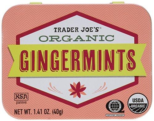 Trader Joes Organic Gingermints, 1.41 oz Tin (Pack of 4) Gluten Free Vegan