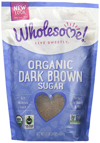Wholesome Sweeteners Fair Trade Organic Dark Brown Sugar, 24-Ounce Pouches (Pack of 6)